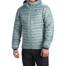 adidas outdoor Frostlight ClimaHeat® Hooded Down Jacket - 700 Fill Power (For Men) in Green Earth - Closeouts