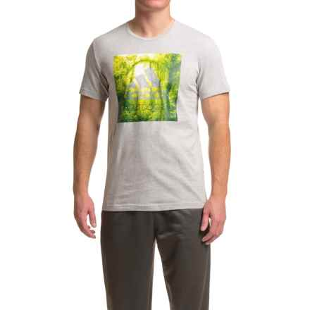 adidas outdoor Graphic T-Shirt - Short Sleeve (For Men) in Med. Grey Heather - Closeouts