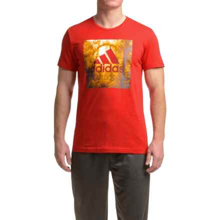 adidas outdoor Graphic T-Shirt - Short Sleeve (For Men) in Scarlet - Closeouts
