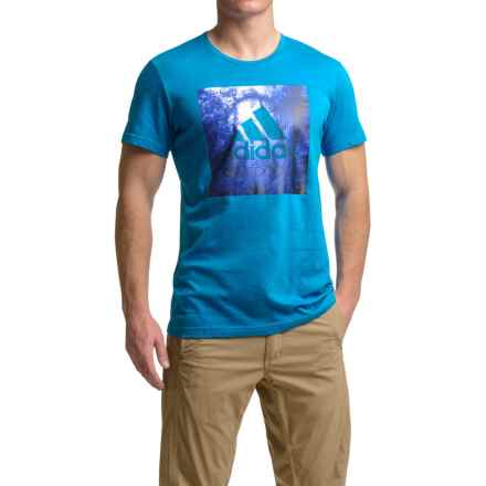adidas outdoor Graphic T-Shirt - Short Sleeve (For Men) in Unity Blue - Closeouts