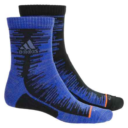 adidas outdoor High Frequency Socks - 2-Pack, 3/4 Crew (For Men) in Black/Bold Blue/Solar Orange - Closeouts