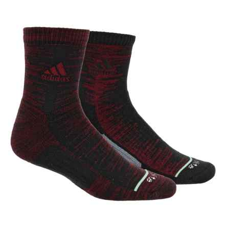 adidas outdoor High Frequency Socks - 2-Pack, 3/4 Crew (For Men) in Collegiate Burgundy-Black Space Dye/Black/Easy Gre - Closeouts