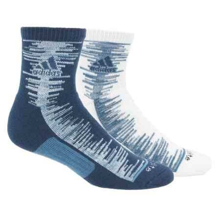adidas outdoor High Frequency Socks - 2-Pack, 3/4 Crew (For Men) in Mystery Blue/Easy Blue-Core Blue Space Dye/Core Bl - Closeouts