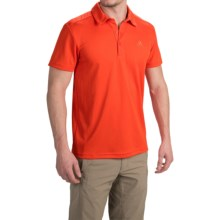 adidas outdoor Hiking ClimaLite+® Polo Shirt - Short Sleeve (For Men) in Bold Orange - Closeouts