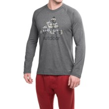 adidas outdoor Hiking ClimaLite® T-Shirt - Organic Cotton Blend, Long Sleeve (For Men) in Dark Grey Heather Camo - Closeouts