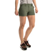 adidas outdoor Hiking Stretch Shorts - UPF 50+ (For Women) in Base Green - Closeouts