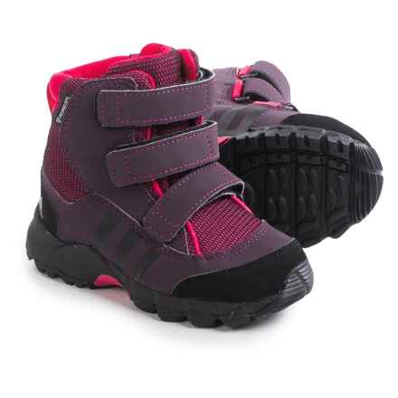 adidas outdoor Holtanna CF PrimaLoft® Snow Boots (For Toddlers) in Tribe Berry/Black/Rich Red - Closeouts