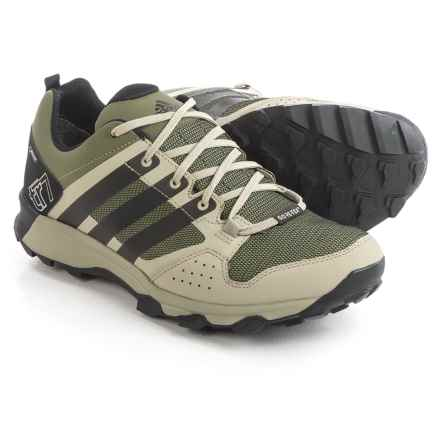adidas outdoor Kanadia 7 Gore-Tex® Trail Running Shoes - Waterproof (For Men) in Base Green/Black/Tech Beige - Closeouts