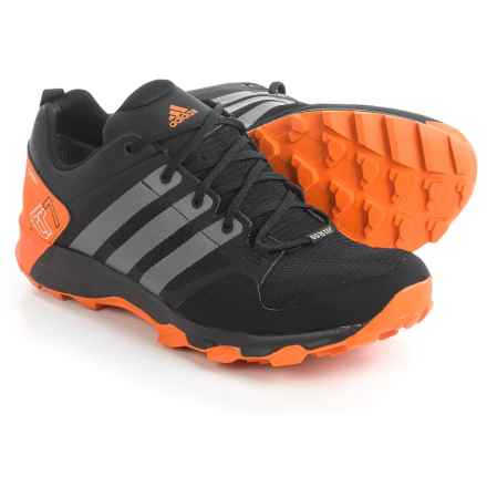 adidas outdoor Kanadia 7 Gore-Tex® Trail Running Shoes - Waterproof (For Men) in Black/Vista Grey/Unity Orange - Closeouts