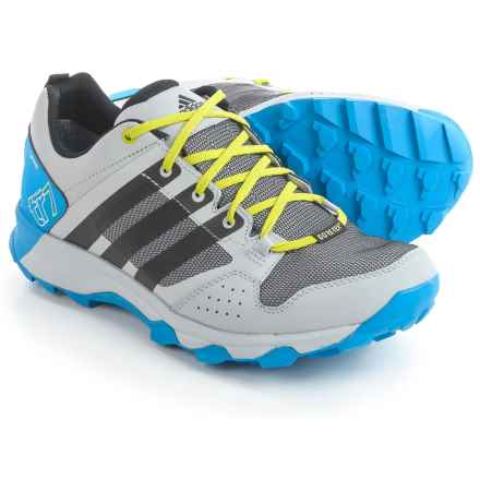 adidas outdoor Kanadia 7 Gore-Tex® Trail Running Shoes - Waterproof (For Men) in Clear Onix/Black/Shock Blue - Closeouts