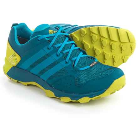 adidas outdoor Kanadia 7 Gore-Tex® Trail Running Shoes - Waterproof (For Men) in Tech Steel/Unity Blue/Unity Lime - Closeouts