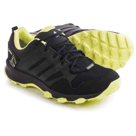adidas outdoor Kanadia 7 Gore-Tex® Trail Running Shoes - Waterproof (For Women) in Black/Semi Frozen Yellow/Chalk White - Closeouts