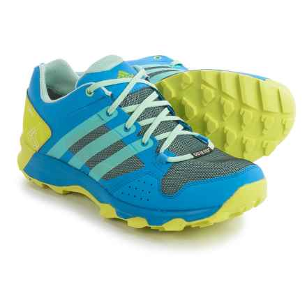 adidas outdoor Kanadia 7 Gore-Tex® Trail Running Shoes - Waterproof (For Women) in Ray Blue/Ice Green/Shock Slime - Closeouts