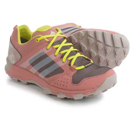 adidas outdoor Kanadia 7 Gore-Tex® Trail Running Shoes - Waterproof (For Women) in Vapour Pink/Shock Slime/Raw Pink - Closeouts