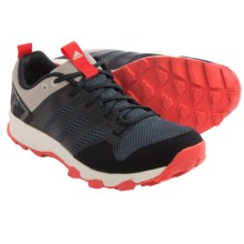 adidas outdoor Kanadia 7 Trail Running Shoes (For Men) in Black/Black/Solar Red - Closeouts