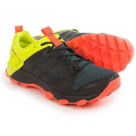 adidas outdoor Kanadia 7 Trail Running Shoes (For Men) in Black/Black/Solar Yellow - Closeouts