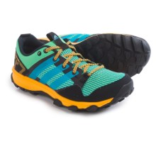 adidas outdoor Kanadia 7 Trail Running Shoes (For Women) in Green Glow/Solar Blue/Solar Gold - Closeouts