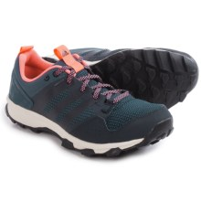 adidas outdoor Kanadia 7 Trail Running Shoes (For Women) in Mineral Blue/Night Navy/Sun Glow - Closeouts