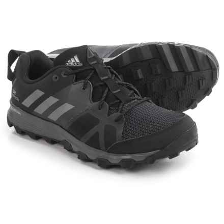 adidas outdoor Kanadia 8 Trail Running Shoes (For Men) in Black/Iron Met/Utility Black - Closeouts