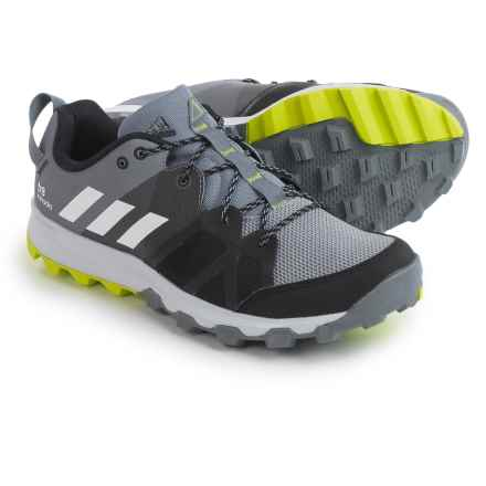 adidas outdoor Kanadia 8 Trail Running Shoes (For Men) in Grey/White/Solar Yellow - Closeouts