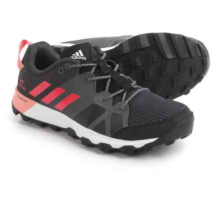 adidas outdoor Kanadia 8 Trail Running Shoes (For Women) in Black/Core Pink/Trace Grey - Closeouts