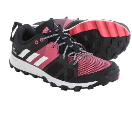 adidas outdoor Kanadia 8 Trail Running Shoes (For Women) in Black/White/Bahia Pink - Closeouts