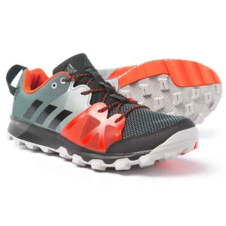 adidas outdoor Kanadia 8.1 Trail Running Shoes (For Men) in Black/Black/Energy - Closeouts