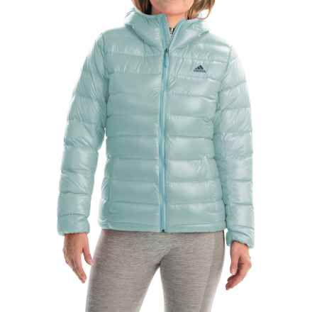 adidas outdoor Light Down Jacket - Hooded (For Women) in Frozen Blue - Closeouts