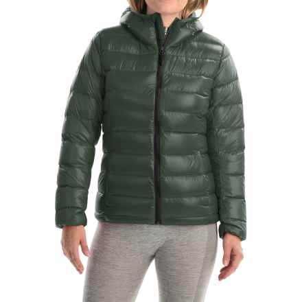 adidas outdoor Light Down Jacket - Hooded (For Women) in Utility Ivy - Closeouts