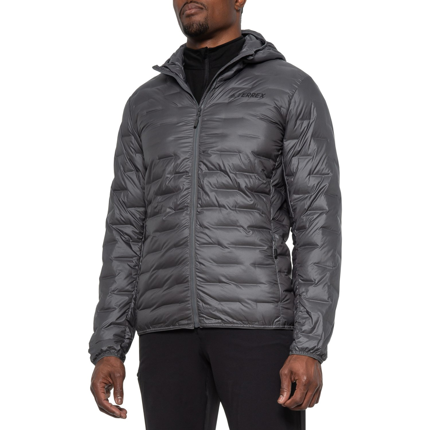 new authentic really comfortable sports shoes adidas outdoor Lite Down Hooded Jacket (For Men) - Save 37%