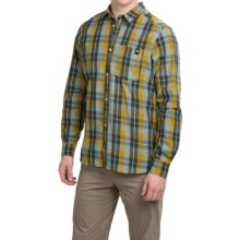 adidas outdoor Lumbercheck Shirt - Long Sleeve (For Men) in Raw Ochre - Closeouts