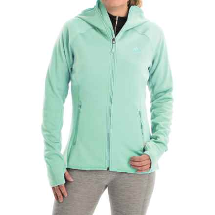 adidas outdoor Mountainglow Fleece Jacket (For Women) in Frozen Green - Closeouts