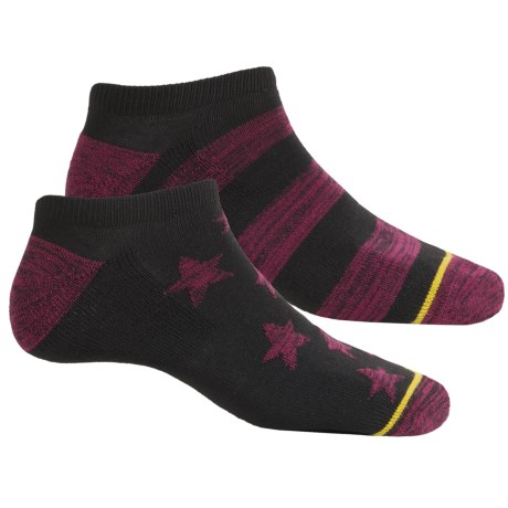 adidas outdoor Neo No-Show Socks - Below the Ankle (For Men) in Black-Berry Space Dye/Black/Tribe Yellow