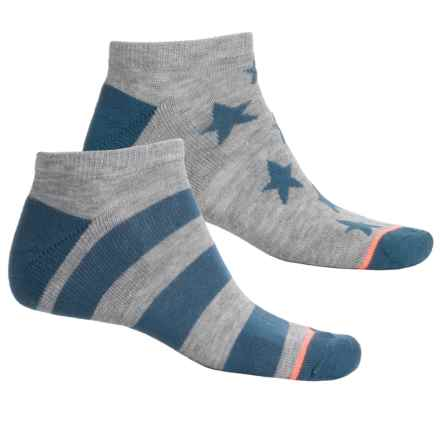 adidas outdoor Neo No-Show Socks - Below the Ankle (For Men) in Heather Grey/Ash Blue/Glow Orange Stars - Closeouts