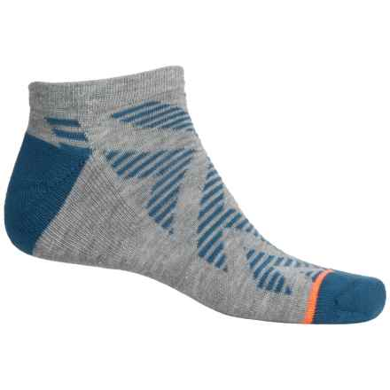 adidas outdoor Neo No-Show Socks - Below the Ankle (For Men) in Heather Grey/Ash Blue/Glow Orange - Closeouts