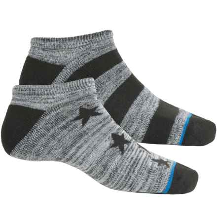 adidas outdoor Neo No-Show Socks - Below the Ankle (For Men) in Midnight-Black Space Dye/Scarlet-Black Space Dye/W - Closeouts