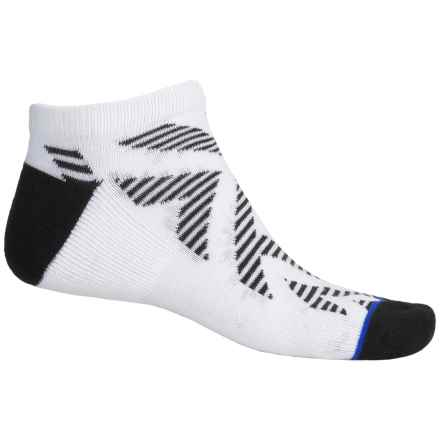 adidas outdoor Neo No-Show Socks - Below the Ankle (For Men) in White/Black/Blue - Closeouts