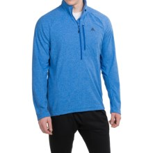 adidas outdoor Reachout Pullover Shirt - Zip Neck, Long Sleeve (For Men) in Blue Beauty - Closeouts
