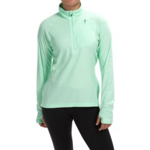adidas outdoor Reachout Pullover Shirt - Zip Neck, Long Sleeve (For Women) in Frozen Green - Closeouts