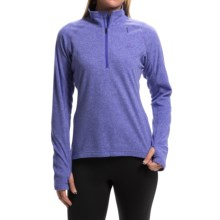adidas outdoor Reachout Pullover Shirt - Zip Neck, Long Sleeve (For Women) in Night Flash - Closeouts