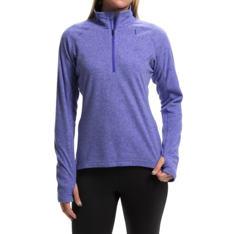 adidas outdoor Reachout Pullover Shirt Zip Neck, Long Sleeve (For Women)