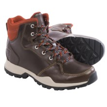 adidas outdoor Rockstack Mid Boots - Leather (For Men) in Dark Brown/Tribe Orange - Closeouts