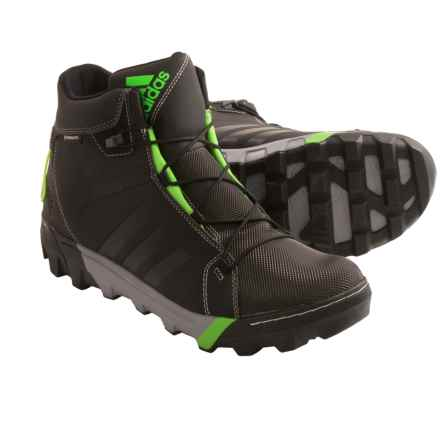 adidas outdoor Slopecruiser CP Primaloft® Winter Boots - Waterproof, Insulated (For Men) in Black/Ray Green - Closeouts