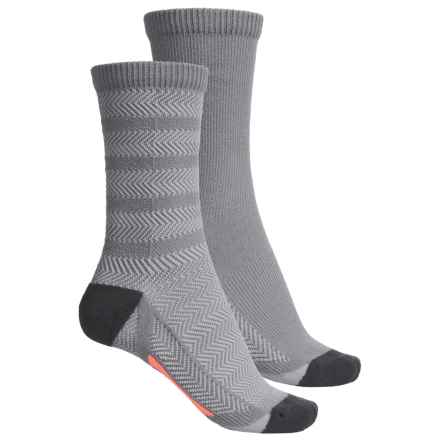 adidas outdoor Studio ClimaLite® Socks - 2-Pack, Crew (For Women) in Light Onix/Onix/Sun Glow - Closeouts