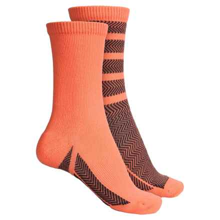 adidas outdoor Studio ClimaLite® Socks - 2-Pack, Crew (For Women) in Sun Glow/Deepest Space - Closeouts
