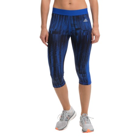 adidas outdoor Techfit Capri Tights UPF 50+ (For Women)