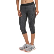 adidas outdoor Techfit Capri Tights - UPF 50+ (For Women) in Dark Grey Heather/Dark Grey Heather - Closeouts