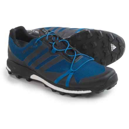 adidas outdoor Terrex Agravic Gore-Tex® Trail Running Shoes - Waterproof (For Men) in Eqt Blue/Black/White - Closeouts