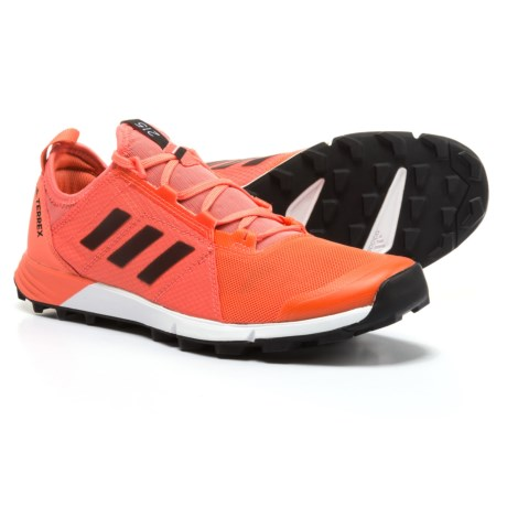 adidas outdoor Terrex Agravic Speed Trail Running Shoes (For Women) in Easy Coral/Black/White