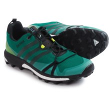 adidas outdoor Terrex Agravic Trail Running Shoes (For Men) in Eqt Green/Black/Semi Solar Slime - Closeouts